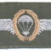 WEST GERMANY Bundeswehr - Army Parachutist wings, Basic, cloth, on olive green, 1966-1983