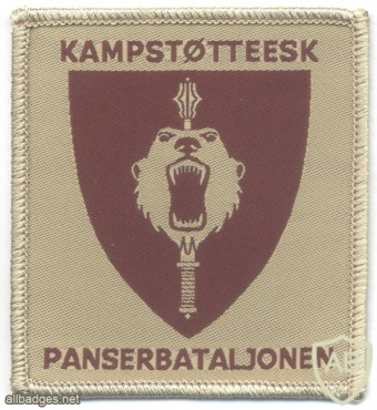 NORWAY - Norwegian Army Combat Support Squadron 6, Armoured Battalion sleeve patch, desert img40924