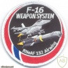 NORWAY - Royal Norwegian Air Force F-16 Weapon System, 132 Airwing sleeve patch img41439