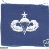 US Air Force Senior parachutist qualification wings, cloth, on blue