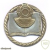 LITHUANIA Navy Scuba Diving School badge, II Class, bi-metal