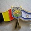דגל בלגיה סמל העיר שדרות ודגל ישראל
