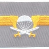 FINLAND Parachutist qualification jump wings, Class I, cloth