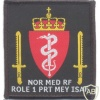 NATO - ISAF - Norwegian Provincial Reconstruction Team Meymaneh Role 1 Medical Reaction Force sleeve patch (2004-2012), full color