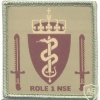 NATO - Norwegian National Support Element Role 1 Medical Facility sleeve patch, desert