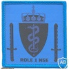 NATO - Norwegian National Support Element Role 1 Medical Facility sleeve patch, blue img47564