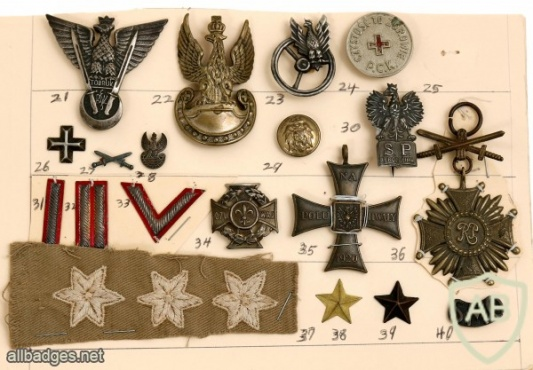 Collection of Pins, Badges and Ranks – Anders' Army in Palestine img47968