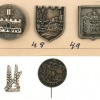 """Seven Pins – """"Mishmar HaAm""""in Jerusalem / Pins Commemorating Forces and Battle- Fields in the area of Jerusalem during the Independence War"""