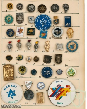 """Large Collection of Badges and Pins – Maccabiah Games and """"Maccabi"""" img48028"""