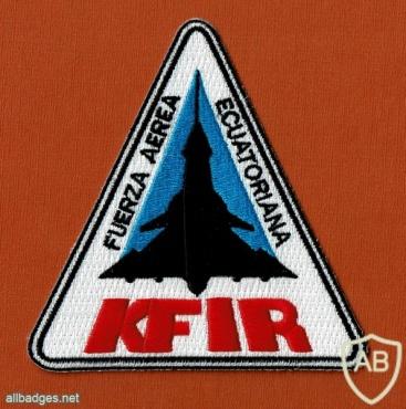 Ecuador Air Force Kfir patch img49388
