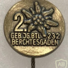 Germany - Army - Gebirgsjägerbataillon 232 pin