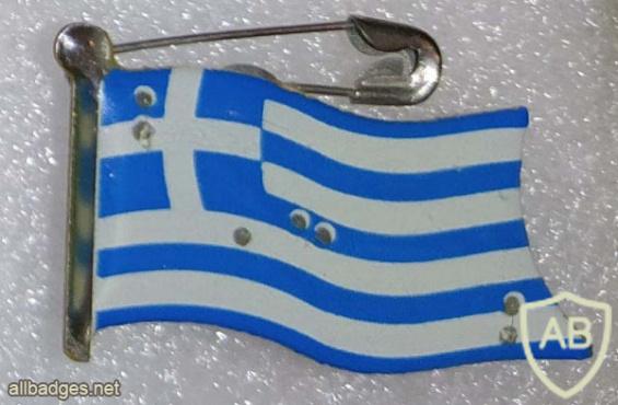 Greece flag with lights img56361