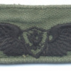 US Army Basic Aviator wings, embroidered, white on green