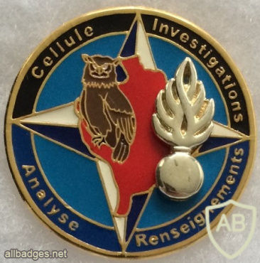 France - Gendarmerie - KFOR Investigations, Intelligence, and Analysis Cell Badge img58903