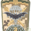 UKRAINE Army 3rd Separate Special Forces Regiment sleeve patch, subdued, digital camo