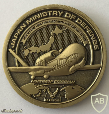 Japan - Ministry of Defense - RQ-4 Global Hawk ISR Challenge Coin img59090