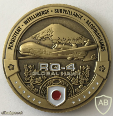 Japan - Ministry of Defense - RQ-4 Global Hawk ISR Challenge Coin img59089